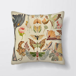 Federe Per Cuscini Arredo.Vintage Art Nouveau Farfalle Cuscino Copre Federe Per Cuscini