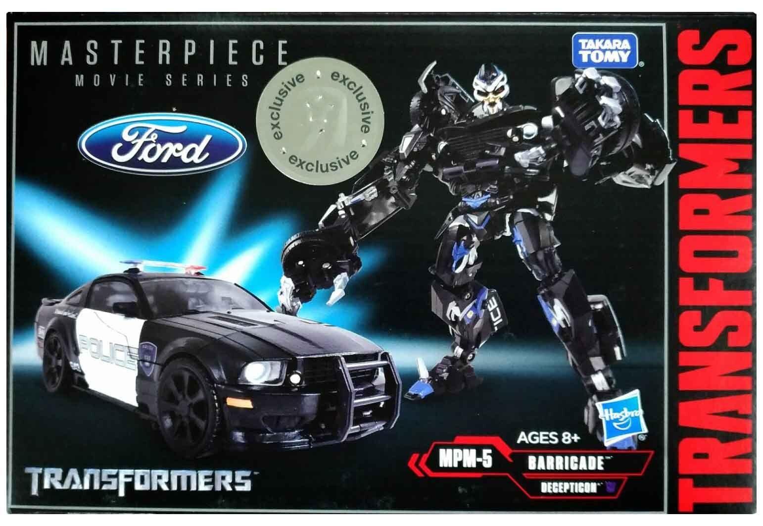 ▲Christmas 100% Takara Transformers Masterpiece MPM-5 Barricade Police Car MIB