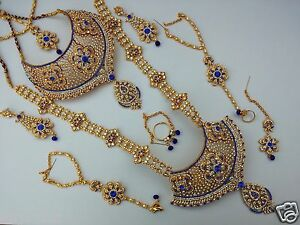 Image Is Loading INDIAN WEDDING DESIGNER GOLD FINISH FASHION BRIDAL KUNDAN