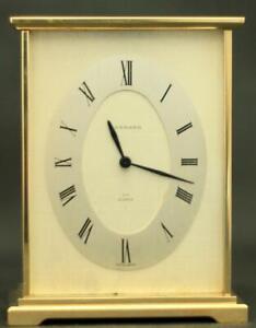 Garrard-London-Suisse-HF-Quartz-Massif-Laiton-Boudoir-Transport-Horloge