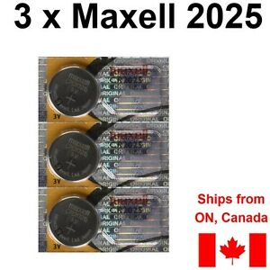 3-NEW-MAXELL-CR2025-DL2025-DL-CR-2025-Batteries-Lithium-BATTERY-FREE-SHIP