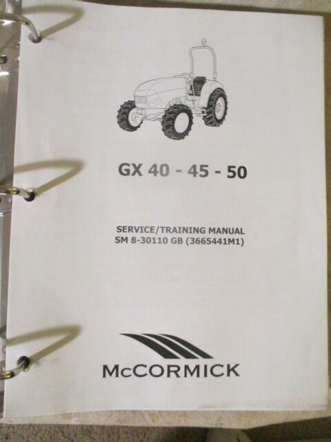 Mccormick Tractor Gx40 45 50 Service Manual Sm8