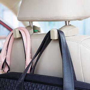 2pcs-Car-Headrest-Hanger-Holder-Hook-for-Bag-Purse-Gray