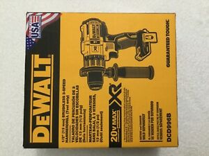 New-Dewalt-DCD996B-20V-Max-XR-1-2-034-3-Speed-Brushless-Hammer-Drill-Driver-NIB
