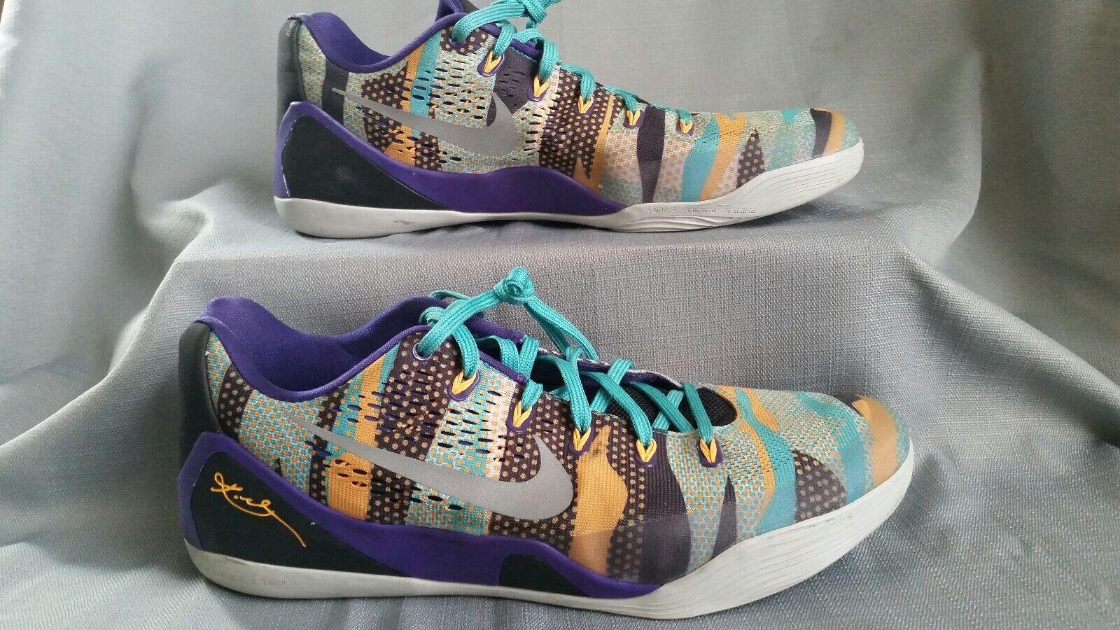 RARE Nike Kobe 9 IX Pop Art Camo Purple Gray Atomic Mango sz 14 646701-508