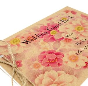Personalised-Vintage-Shabby-Chic-Wedding-Guest-Book-Free-P-P