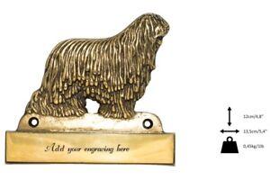 Komondor- Plaque De Laiton Avec Un Chien 'welcome' Art Dog Fr Type 2