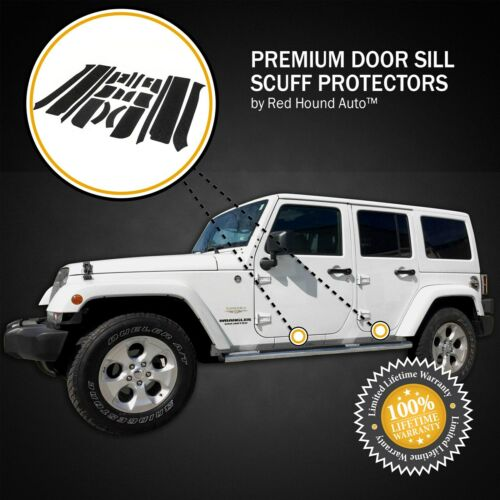 Fits Wrangler Unlimited 07-18 JKU 20pc Door Step Guard Sill Scuff Entry Shield