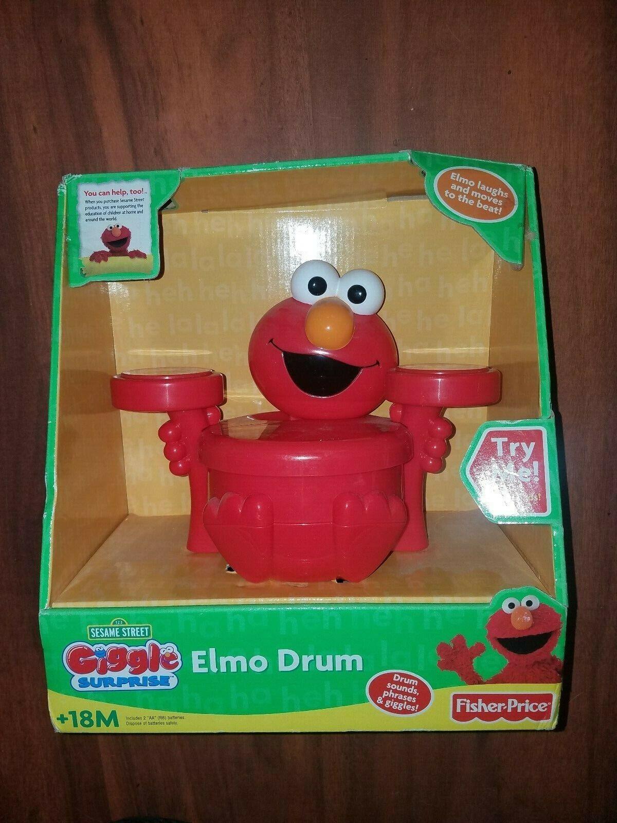 Fisher-Price Sesame Sesame Sesame Street Giggle Surprise Elmo Drum new 2007 fast free shipping a4385e