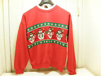 LOOK The UGLIEST ugly crazy tacky vintage CHRISTMAS party SWEATER  LT-15