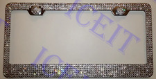 Made With SWAROVSKI Crystal Chrome license plate frame 7 rows! With Screw Caps