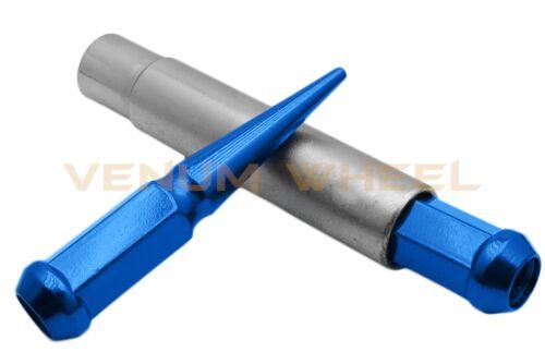 KEY FITS TOYOTA CHEVY DODGE RAM JEEP 5 LUG 20PC BLUE SPIKE LUG NUTS M14X1.5