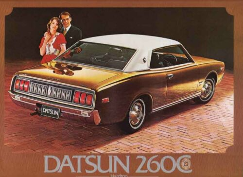 Three 1972-73 DATSUN 260C SEDAN /& HARDTOP 2 Page Sales Brochures