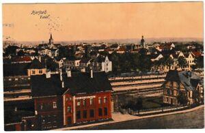 Ansichtskarte-Herford-Westfalen-Totalansicht-Koenigliche-Gueterabfertigung-1914