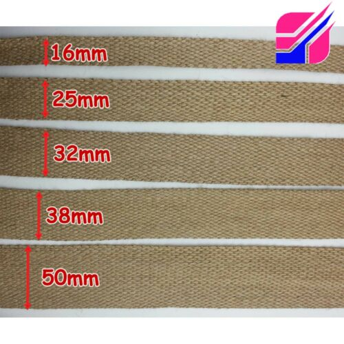 16mm 19mm 1inch 25mm 50mm 2 Jute Tape Assorted Width Natural Hessian Burlap
