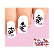 Waterslide Nail Decals Set Of 20 Usmc United States Marine Corps Mom Pink