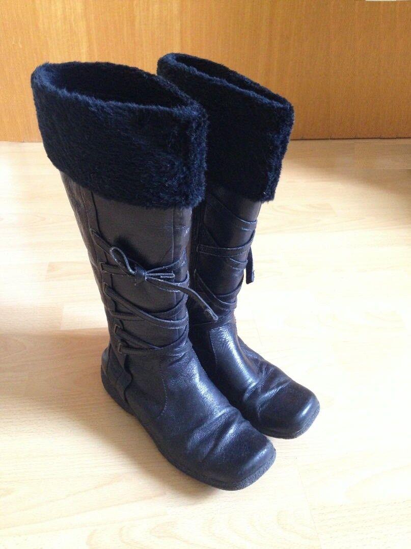 Esprit botas botas botas de cuero talla 39 botas de invierno negro en OVP  hasta un 60% de descuento