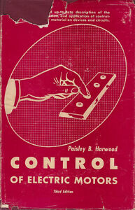 Control-of-Electric-Motors-3rd-Edition-by-Paisley-B-Harwood-1956-Vintage