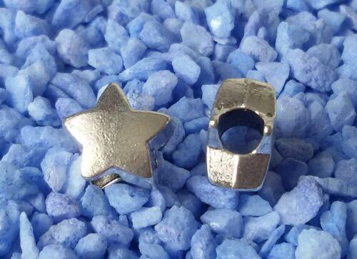 5//10//20//30 estrella estrellas beads grande agujero perlas Paracord grande agujero perlas b14