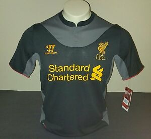 922e1d542 Image is loading Warrior-Liverpool-FC-Away-Jersey-Black-Gray-Size-