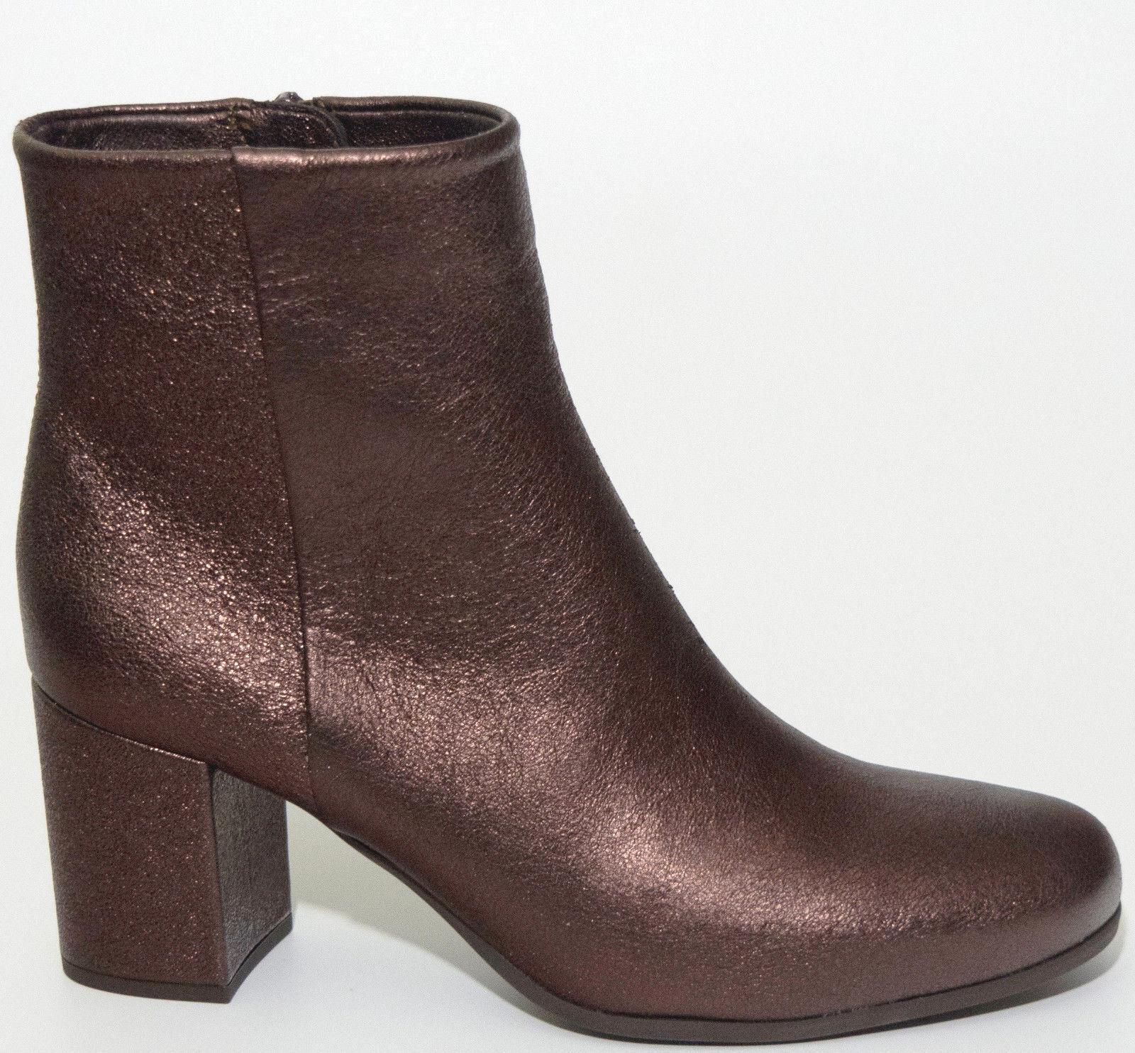 UNISA tobillo bota 39 cuero cobre marrón metálico metálico marrón brillo botas hecho España zapato nuevo 69fae8