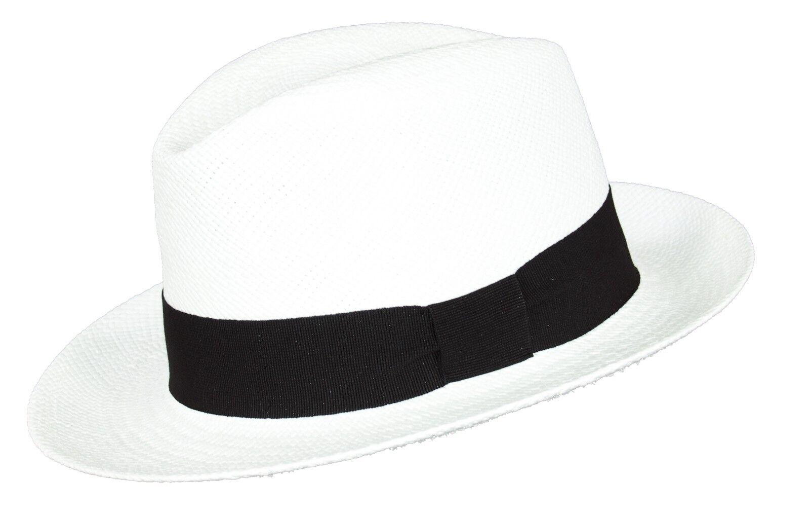 Hochwertiger PANAMAHUT Hut handgefertigt aus 100% 100% 100% PANAMA-Stroh weiß | Online-Exportgeschäft  389a4c