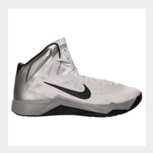Men's NIKE ZOOM HYPERQUICKNESS TB Basketball Shoes 599420 002 Gray White 17.5
