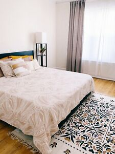 Ikea Malm Bed Frame High Black King Excellent Condition Ebay