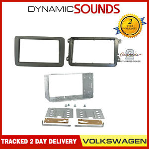 Car-CD-Stereo-Double-Din-Fascia-Panel-Cage-Fitting-Kit-For-VW-Caddy-2004-Onwards