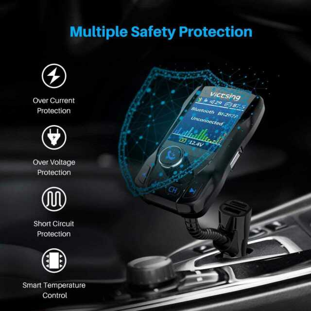 Victsing Wireless Bluetooth FM Transmitter Car Radio MP3 Music Player 3 USB