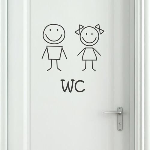 Wandaufkleber Wandsticker Toilettenmännchen Wandtattoo WC aufkleber
