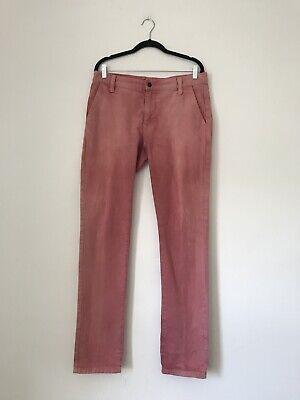 Amichevole Taglia W34 L34 Wrangler Piedona Rosa Salmone Rosso Slim Tapered Fit Jeans Chiusura Zip-mostra Il Titolo Originale Caldo E Antivento
