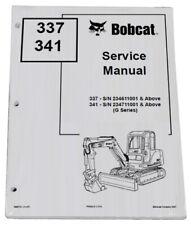 Bobcat 337 341 Compact Excavator Service Manual Shop Repair Book 2 Pn 6902741