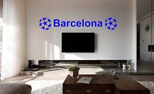 Dettagli su Barcellona calcio poster Camera Da Letto Muro ARTE Adesivo,  Decalcomania, auto, vinile murale- mostra il titolo originale