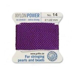 AMETHYST-PURPLE-NYLON-POWER-SILKY-THREAD-1-02mm-STRINGING-PEARLS-BEAD-GRIFFIN-14