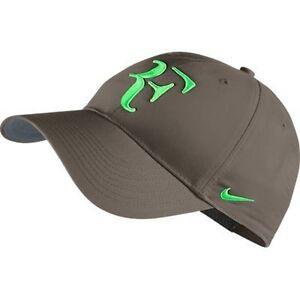 NEW Nike Hybrid RF Roger Federer Hat 371202-235 Olive Khaki   Poison ... 2130462cb82
