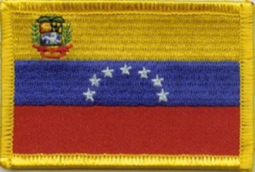 Ricamate Venezuela bandiera bandiera aufbügler Patch 8 x 5 cm