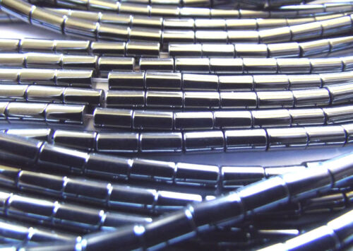 High Quality 16 Inch Strand 2x3mm Approx Tube Shaped Hematite