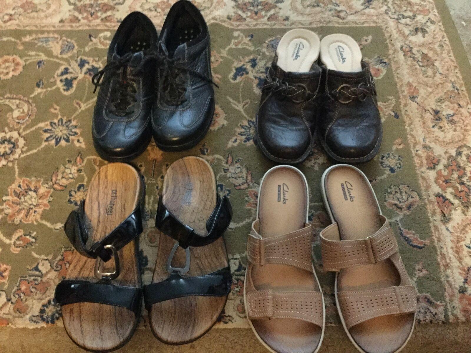 negozio outlet 4 pair of Donna  CLARKS CLARKS CLARKS scarpe - Excellent Condition With no wear - Dimensione 8M  alta qualità e spedizione veloce