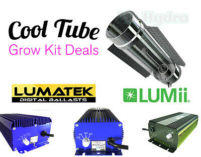 Cooltube Grow Kits inc Lumatek or Lumii Quality Ballast & Bulb Selection
