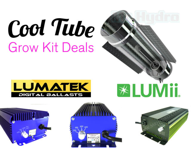 Cooltube Grow Kits inc Lumatek or Lumii Quality Ballast & Bulb Selection