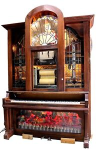 Antique Hobart & Coinola Player Piano w/ Rolls Collection ...