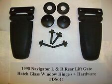 1998 Lincoln Navigator Rear Liftgate Hatch Glass Window Hinge s R & L OEM#DS011