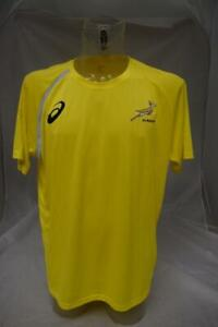 Mens-Asics-South-African-Rugby-Union-Training-Shirt-Size-3XL-Lot-R85