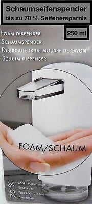 """Schaum Seifenspender 250 ml Farbe Weiß bis zu 70 /% Seifenersparnis Soft-Touch/"""""""