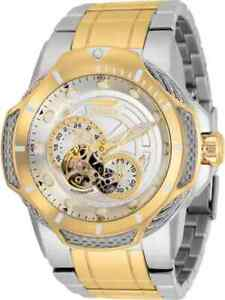 Invicta-Bolt-Automatic-White-Dial-Two-tone-Men-039-s-Watch-31175