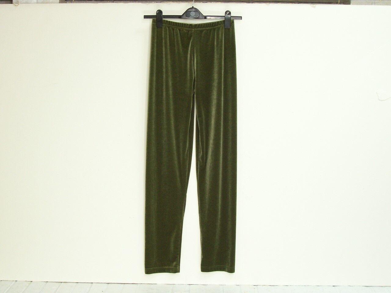 NWT California STYLE Plush Tech Stretch Velvet Leggings Soft Sage Grün Größe M
