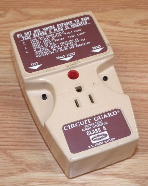 Hubbell Circuit Guard Ground Fault Interrupter Cat# GFA-130-A . WP-006 * NIB.