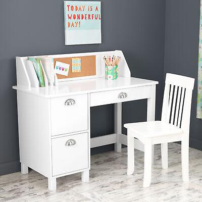 Kids Study Desk And Chair Bedroom Furniture Storage Drawer Organizer Homework Ebay