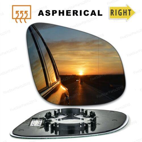 RIGHT SIDE VOLKSWAGEN TRANSPORTER 2010-/>2019 DOOR MIRROR GLASS,HEATED /& BASE